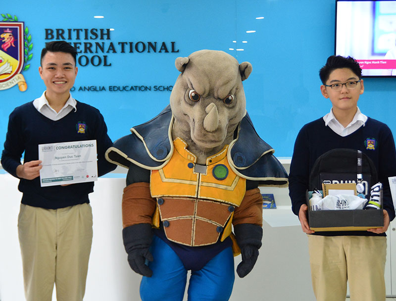 VIETNAMESE YOUTH COMPETITION WINNERS TO HELP RHINO